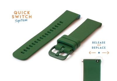 Garmin Forerunner 745 watch band dark green