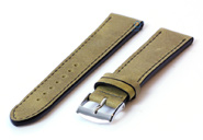 Watchstrap 18mm kaki green leather