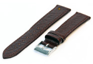 Watchstrap 14mm brown buffalo leather