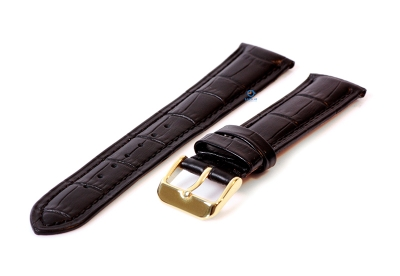 Watchstrap 16mm croco leather black