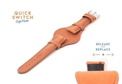 Watchstrap 18mm flieger brown