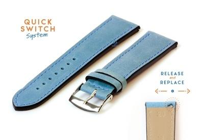Watchstrap 20mm blue