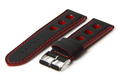 Watchband 18mm racing black/red