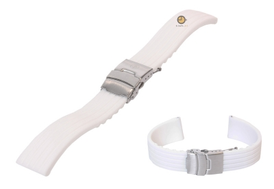 Silicone watchstrap 18mm white