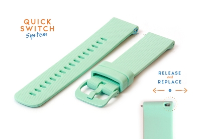 Watchstrap 18mm silicone green